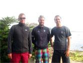 Les permanents diplômés d'État du pôle nautique de Loguivy-de-la-Mer : Olivier, Bertrand et Florian